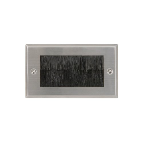 Brush Wallplates Double