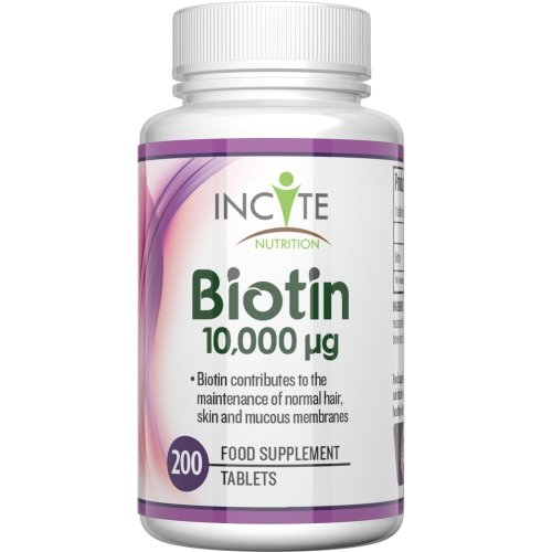 Biotin Hair Growth Vitamins 10000MCG 200 6mm Tablets