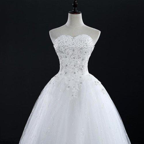 Plus Size Vintage Lace Wedding Dresses 2016 Princess Vestido de Noivas Ball Gown Free Shipping FSM-110F