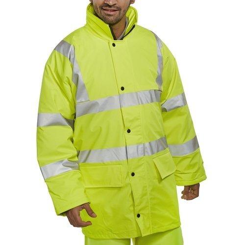 Click PUJ471SYXXL Hi Vis Yellow Jacket With Concealed Hood EN471 XXL