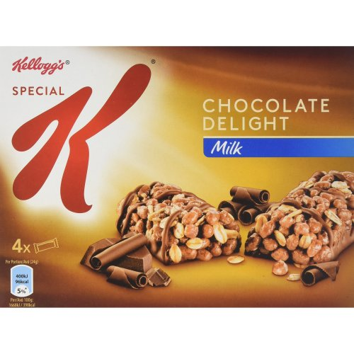 Kellogg's Special K Milk Chocolate Delight Cereal Bars, 4x24 g (Pack of 5)