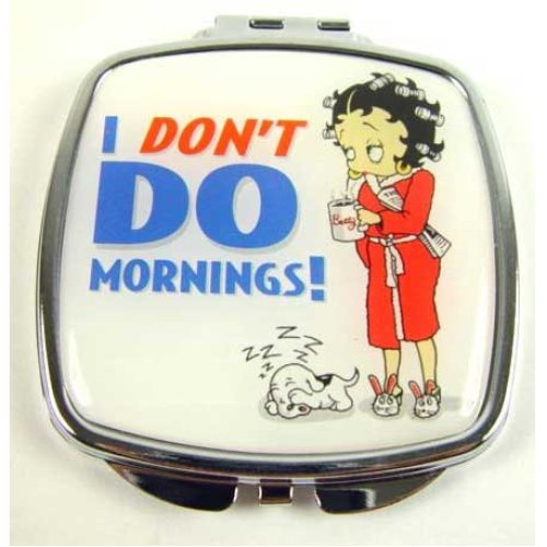 Betty Boop Compact Mirror - I Don't Do Mornings
