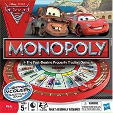 Hasbro Cars 2 Monopoly Race Track Family Board Game Brand New Sealed