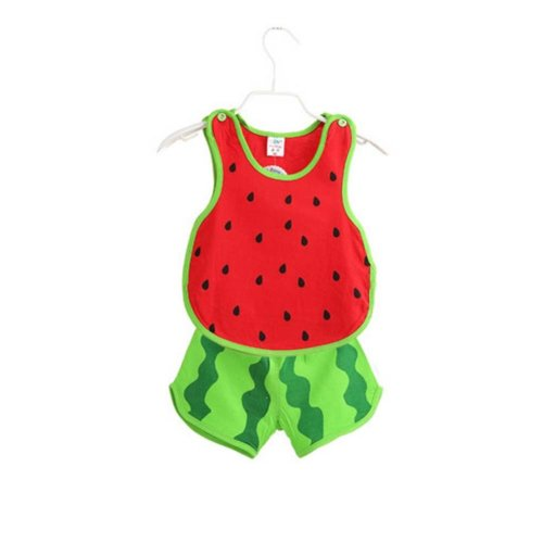 Sleeveless Watermelon Baby Suit Kids Cloth,90cm