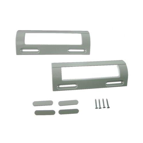 2 x Universal White Fridge Freezer Door Handle 80mm-150mm