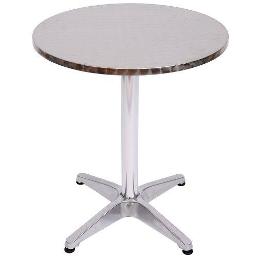 Homcom Round Aluminium Bistro Table | Adjustable Bar Table