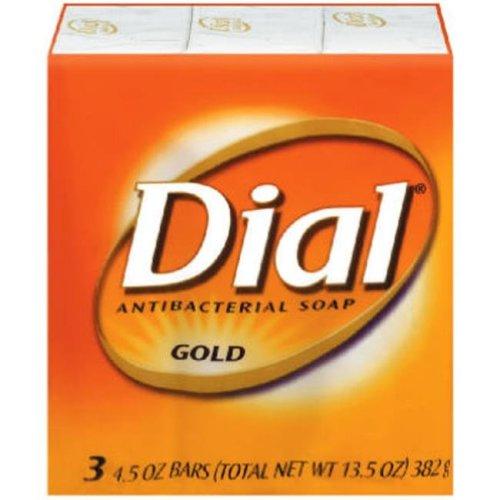 Dial 12402 4 oz. Gold Dial Antibacterial Soap Bars, 3 Pack