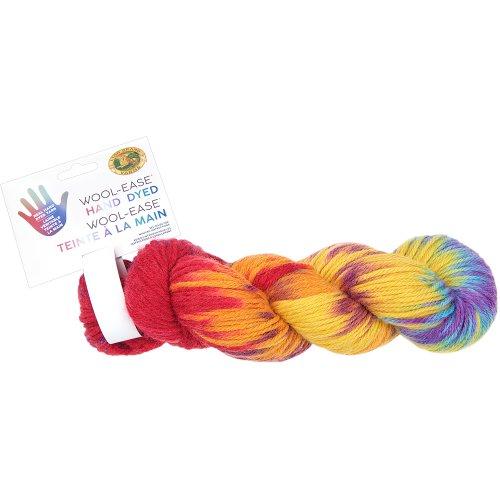 Lion Brand Yarn Wool-Ease Hand Dyed-Tie Dye