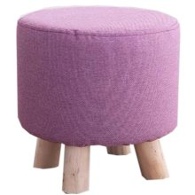 Creative Wood Linen for Shoe Stool Household Stool Round stool Children Adults Apply, Purple