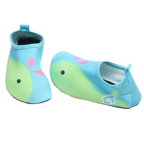 Children Sand Socks Water Skin Shoes Diving Socks,Blue Whale 19.1cm