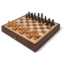 Collector's Edition Chess Set with Walnut & Oak Finish
