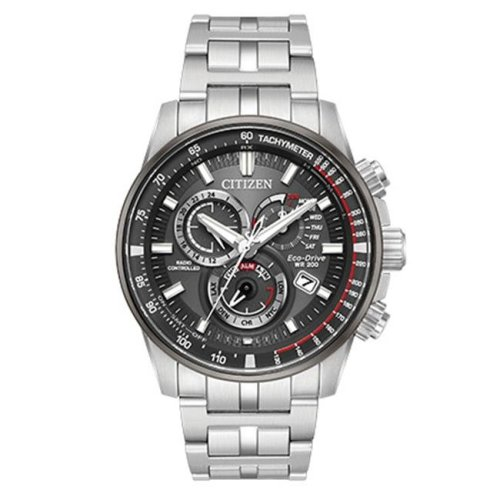 Citizen Eco-Drive Stainless Steel Chronograph Mens Watch AT4129-57H