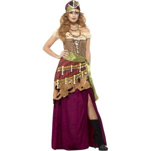 3403800735b8 Smiffy's 48014s Deluxe Voodoo Priestess Costume (small) - deluxe voodoo  priestess fancy dress gypsy womens halloween costume ladies adults magic on  OnBuy
