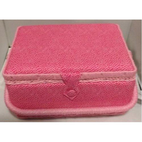 HobbyGift Medium Sewing basket - Spotty Pink - 26.5 x 19.5 x 14cm