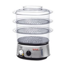 Tefal Invent 3 Tier Food Steamer - 9 Litre - Black and Chrome (Model No. VC101616)