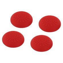 ZedLabz convex soft silicone thumb grips for Sony PS4 controller analog sticks - 4 pack red