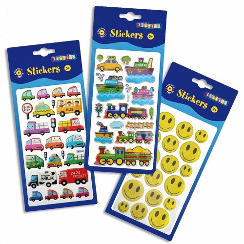Pbx2470631 - Playbox - Puffy Stickers (vehicles & Smileys) Assorted