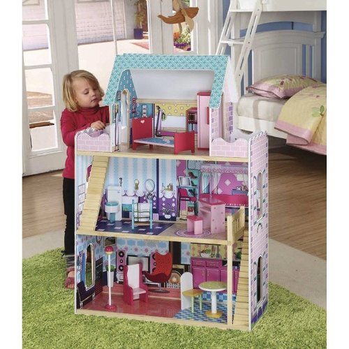 Mansion Dolls House With Furniture