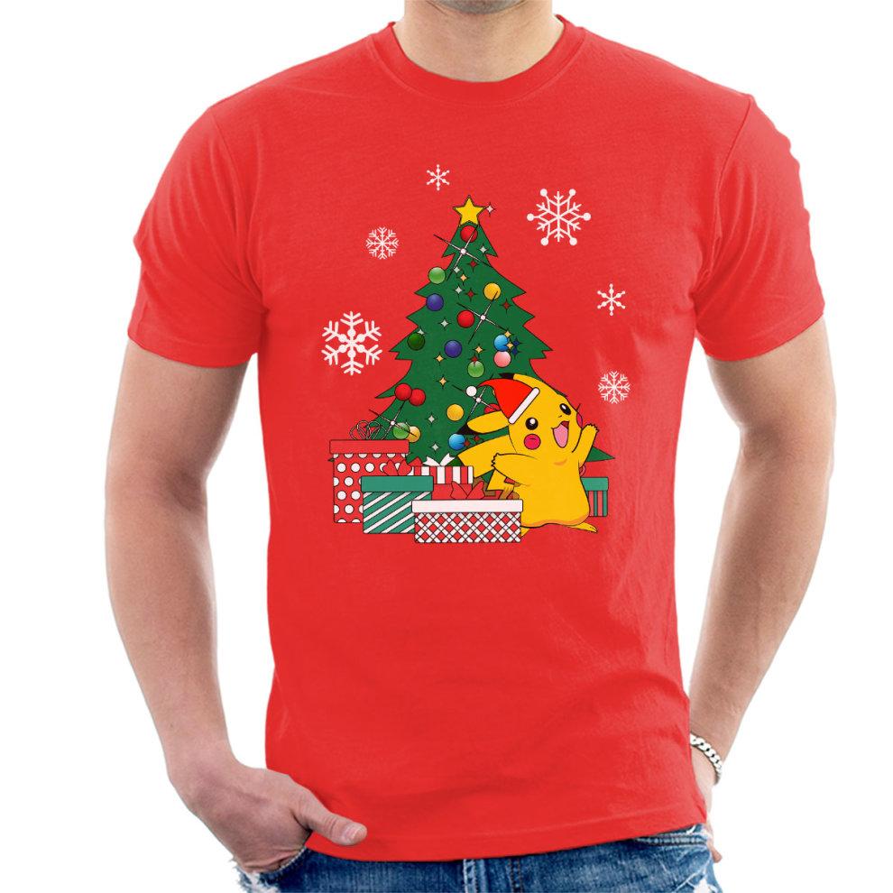 7a5f883a5 Pikachu Pokemon Christmas Tree Men's T-Shirt on OnBuy