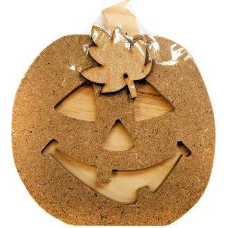 "Foundations Decor Interchangeable ""O"" Wood Shape-October - Jack-O-Lantern, 5""X5.5"""
