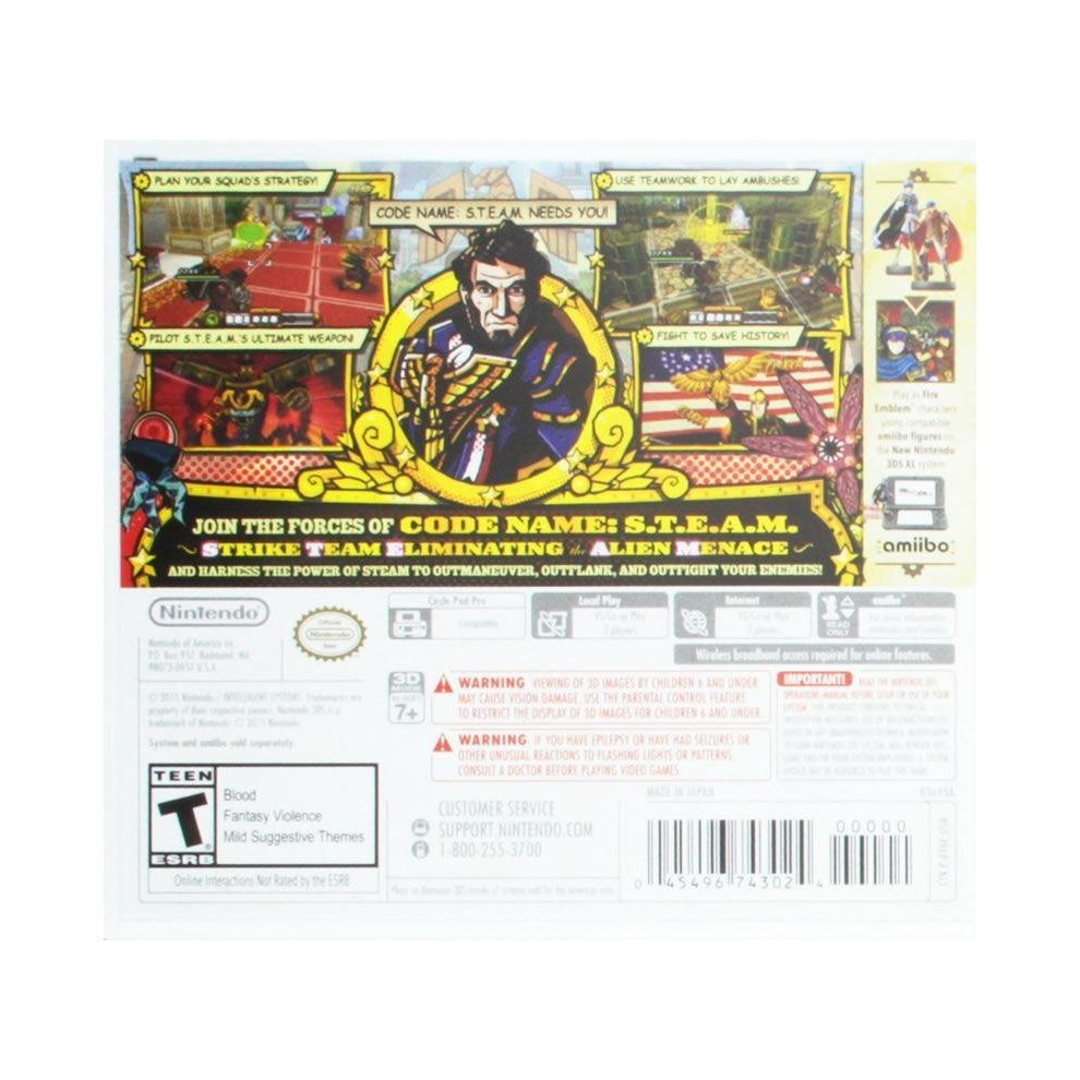 Code Name S T E A M  Nintendo 3DS/2DS Video Game