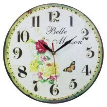 Obique Home Decoration with Belle Maison Scene MDF Wall Clock 34cm
