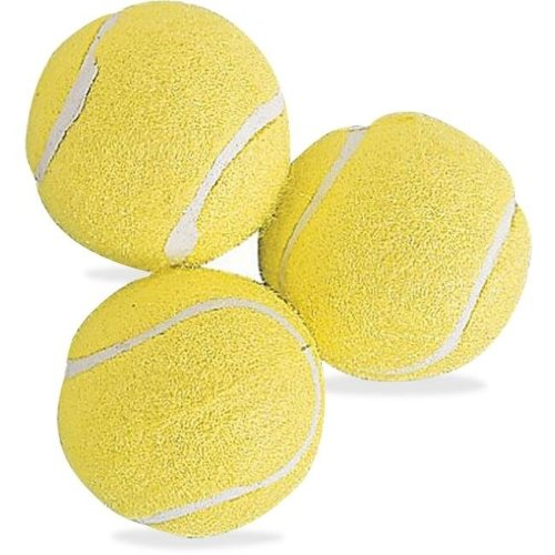 Champion Sports CSITB3 Rubber Tennis Balls, Yellow - Pack of 3
