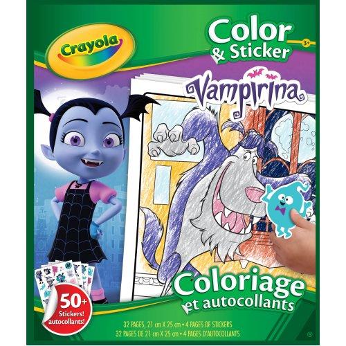 Crayola Vampirina Colour & Sticker Book