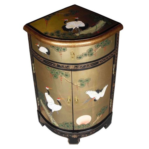 Chinese Gold Lacquer Cabinet Corner