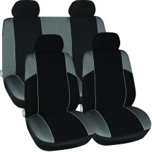 Grey 11 Piece Car Seat Cover Set - Black New Value Full Protective Fit Suitable -  seat grey set black car cover new value full protective fit