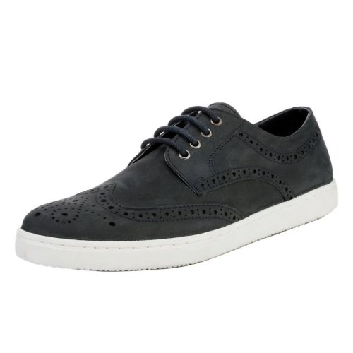 Red Tape Men's Girvan Nubuck Leather Casual Brogue Shoes Navy