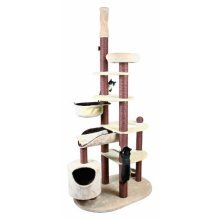 Trixie Nataniel Floor To Ceiling Scratching Post, 228 - 268 Cm, Beige/brown - -  trixie scratching tree nataniel beigebrown ceiling high new