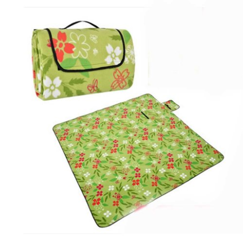 Extra Large Picnic Blanket Water-Resistant Beach Blanket (Green/79*79 inch)