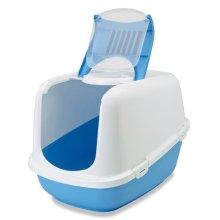 Nestor Jumbo Cat Toilet White/pacific Blue 66.5x48.5x46.5cm (Pack of 3)