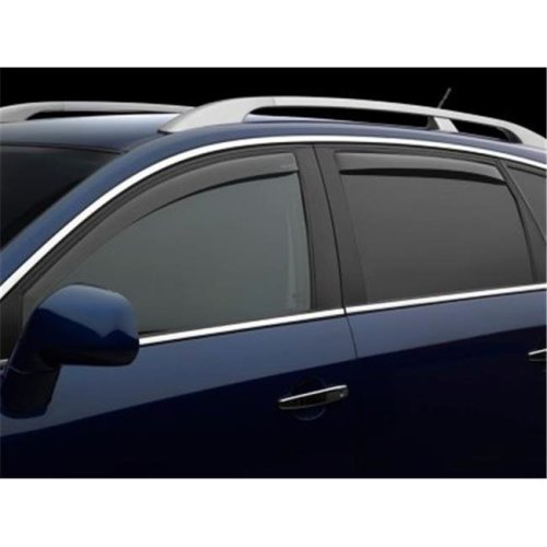 Weathertech W24-72780 Front & Rear Side Window Deflectors for 2015-2018 Subaru Outback, Light Smoke