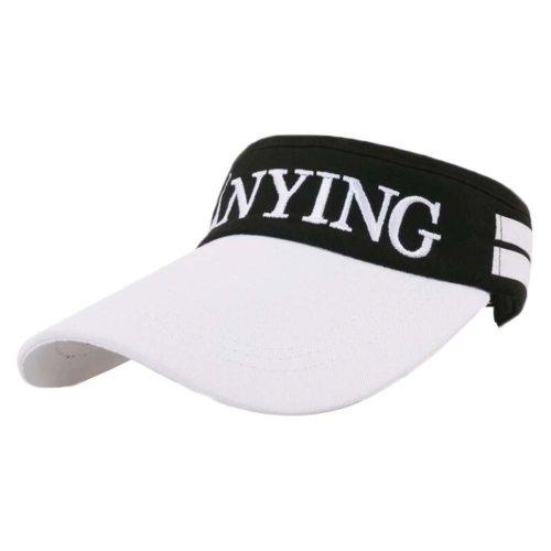 Adjustable Sports Running Visor Sun Hat - Black and White
