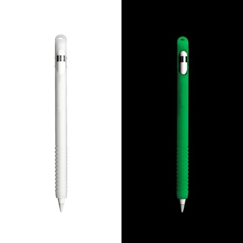InventCase Silicone Protective Grip Case Cover for Apple Pencil iPad Pro Stylus Pen Styli - Glow in the Dark Version - Green