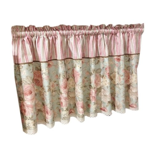 Lovely Cafe Curtain Window Valance/Floral Curtain, Pink(170*60 cm)
