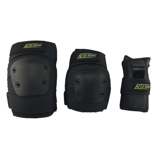 Mystery 3 in 1 Knee Elbow Pads Wrist Guards Thicken Skateboard Cycling Roller Skating Outdoor Sports Elbow Knee Wrist Protective Gear Pads Safety...