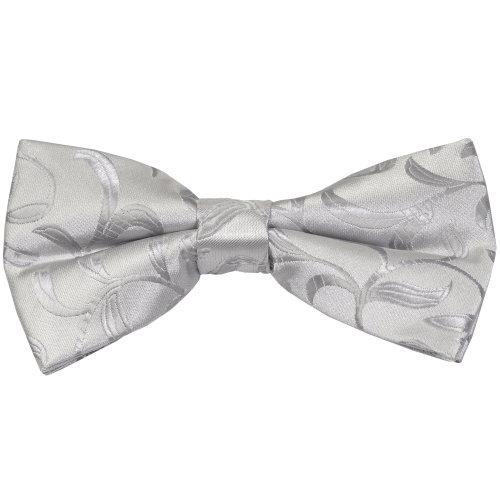 Silver Vintage Vine Wedding Bow Tie #AB-BB1004/5