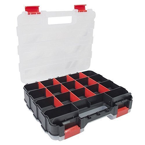 34 Section Double Sided Storage Box - Organiser Compartment Case Tool -  double sided storage box 34 organiser compartment case tool section