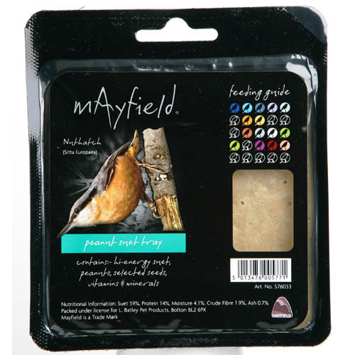 Mayfield Suet Tray With Peanut Single (Pack of 6)