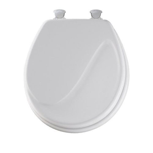 Miraculous Bemis Manufacturing 24Ec 000 Round Molded Wood Wave Toilet Seat White Bralicious Painted Fabric Chair Ideas Braliciousco