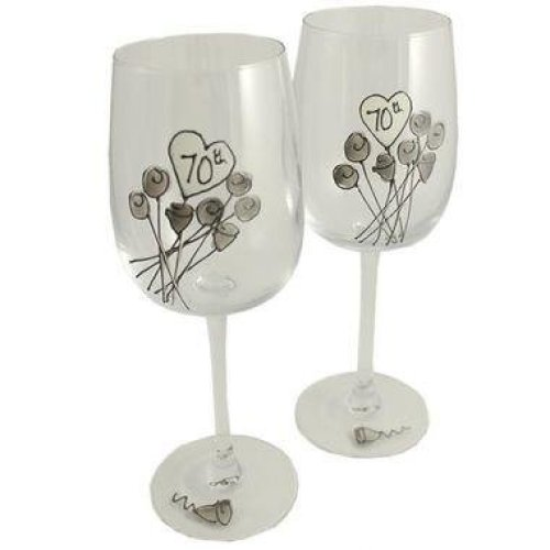 Wedding Anniversary Wine Glasses (Flower)