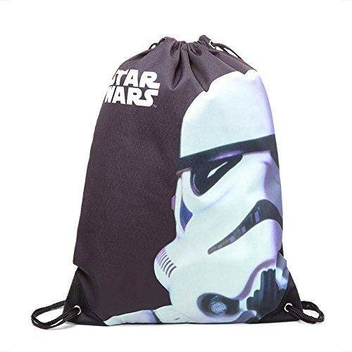 STAR WARS Unisex Stormtrooper Face Gymbag One Size - Black (CI080436STW)