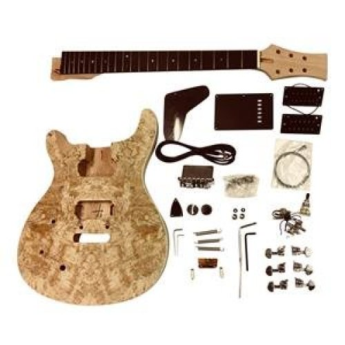 Mahogany arch top body Electric Guitar DIY Kit GDPR88L LEFT HANDED for Student & Luthier Projects