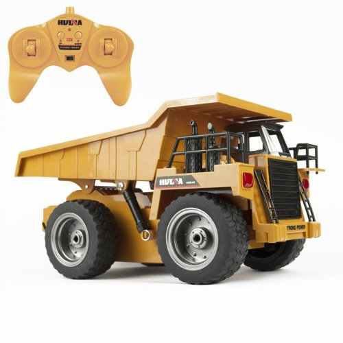 6 Channel RC Dump Truck Toy Full Function Remote Control Construction Vehicle UK
