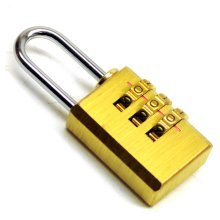 Brass Combination Resettable Padlock Suitcase Luggage Shed Garage Fence TE161