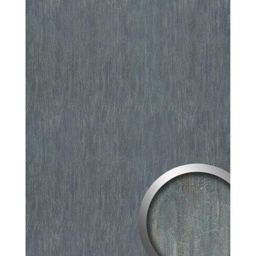 WallFace 17847 OXY STEEL Wallpanel selfadhesive Leather steel grey blue 2.6 sqm