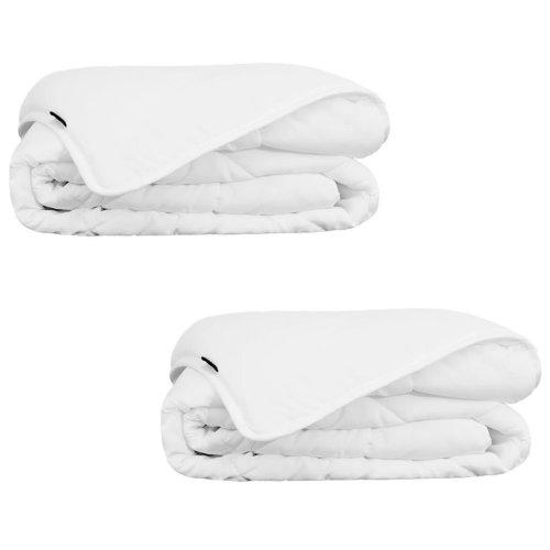 vidaXL Summer Duvet/Quilt 2 pcs 135x200 cm White